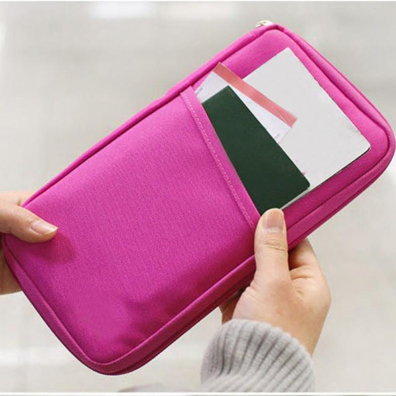 2018 Fashion Travel Passport Credit ID Card Holder Cash Wallet Organizer Bag Purse Wallet 7 Colors to Choose travel bag wallet purse document organizer zipped passport tickets id holder new