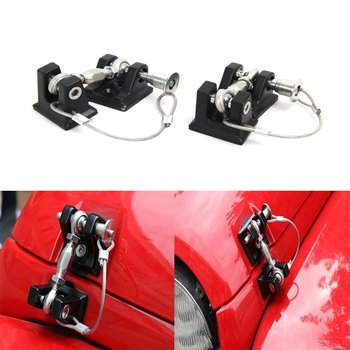 Metal Retro Car Exterior Lock Hood Latch Catch Decoration Engine Cover Protect For Jeep Wrangler JK Unlimited Rubicon Sahara