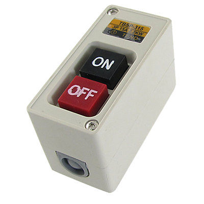 TBSP-315 Self Locking On/Off Power Pushbutton Switch 3P 3 Phase 15A 2.2KW