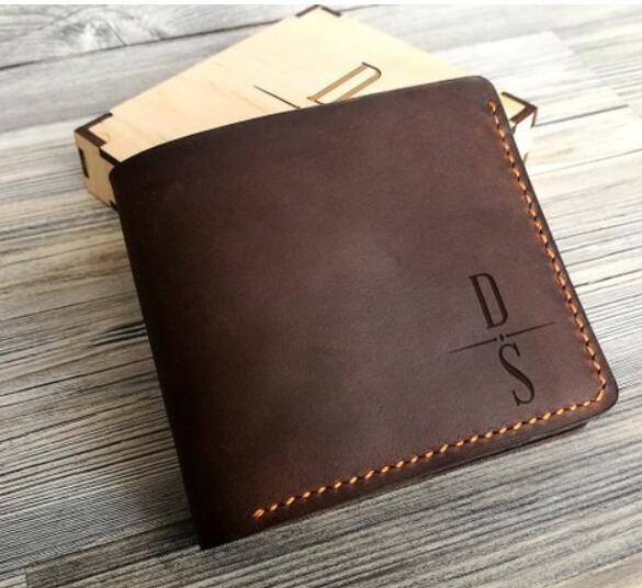 Mens Wallet Personalized Wallet For Dad Leather Wallets For Men W23 Wallet
