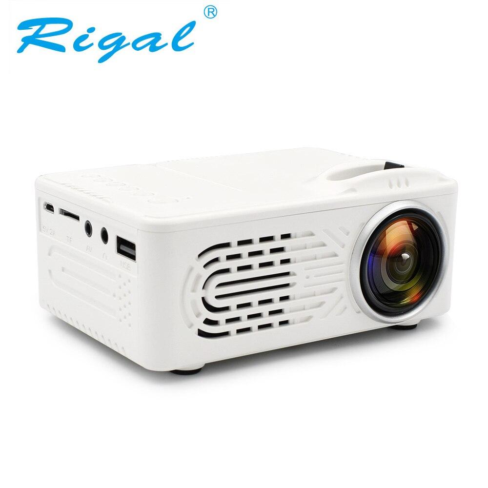 Rigla RD814 мини Батарея проектор ЖК-дисплей светодиодный Портативный проектор RD-814 домашнего кинотеатра Кино светодиодный USB дети ребенок видео…