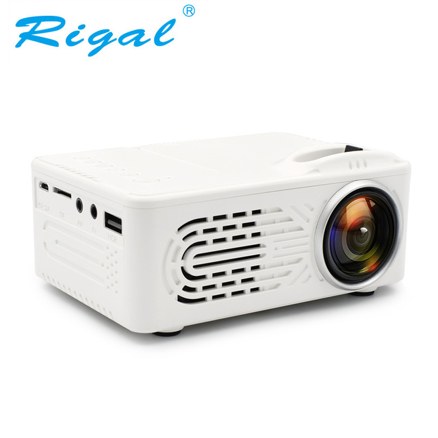 Big Promo Rigla RD814 Mini Battery Projector LCD LED Portable Projector RD-814 Home Theatre Cinema LED USB Kids Child Video Media Player