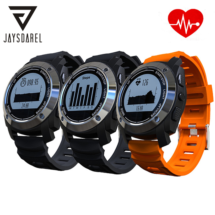 JAYSDAREL S928 Heart Rate Monitor GPS Smart Watch Air Pressure Environment Temperature Height Smart Wristwatch for Android iOS jaysdarel heart rate blood pressure monitor smart watch no 1 gs8 sim card sms call bluetooth smart wristwatch for android ios