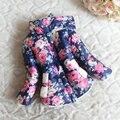 Детские Девушки Искусственного Меха Руно Пиджаки Пальто Цветочные Дети Зимой Теплый Пуховик