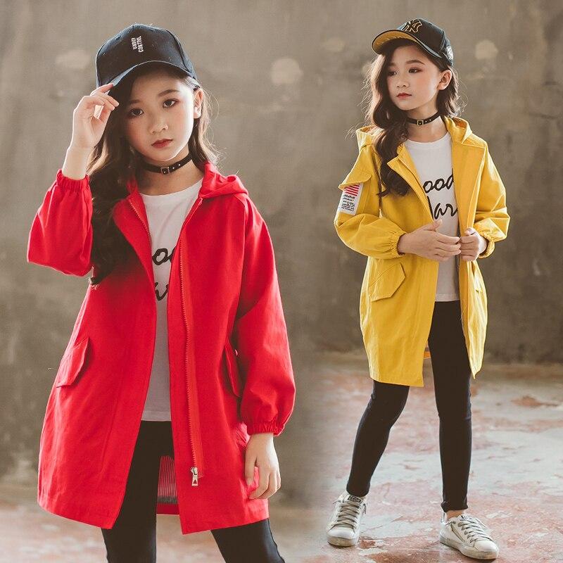Коллекция 2019 года, осенне весенняя куртка для девочек, Ветровка для девочек, детская куртка, детский плащ Тренч, детская верхняя одежда, одежда для девочек