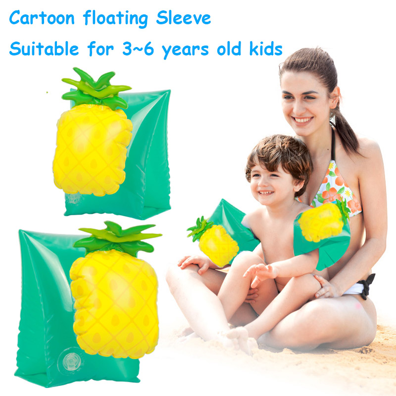 Baby Cartoon Sleeves Inflatable Flamingo Pool Unicorn Float Swimming Ring Armlets Beach Accessories Boia Piscina For Kids Toys
