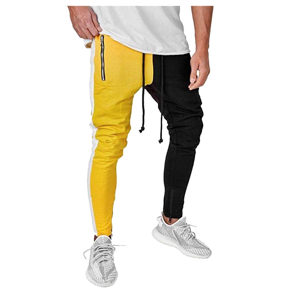 Men Pants Work Summer Trouser Casual Sports Bottoms Training Elastic Waist
