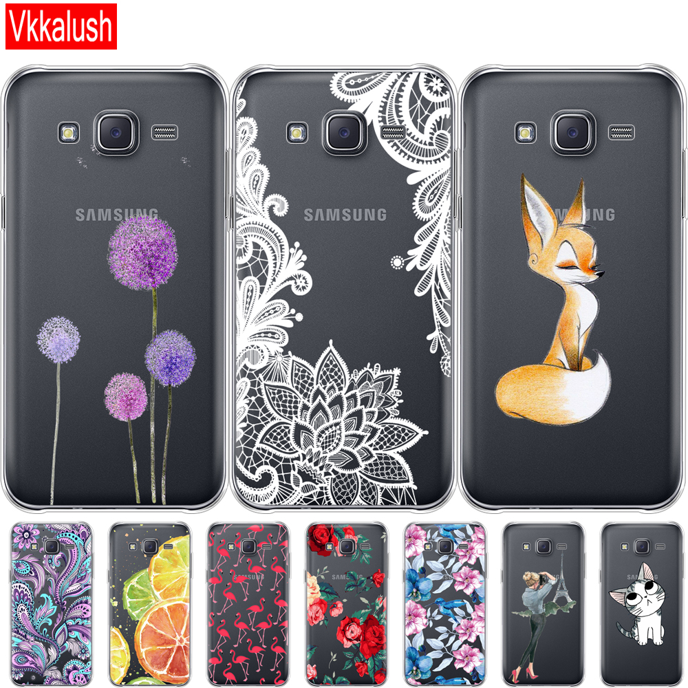 Case For Samsung Galaxy J5 SM-J500F Soft TPU Silicon Case For Samsung J5 2015 Back Cover 360 Full Protective Back Cover Coque image