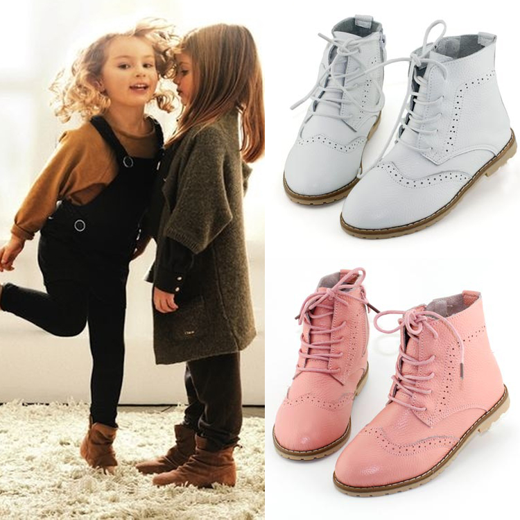 ФОТО 2015 autumn genuine leather children shoes large  child boots princess shoes girls shoes martin
