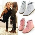 2015 del otoño niños zapatos de cuero genuino grandes botas de niño zapatos de princesa niñas zapatos martin