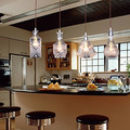 Garrafa de Design de Estilo Country Americano Luz Pingente Hanging Lamp Com 4 Luzes LED Para A Barra de Sopro De Vidro Artístico