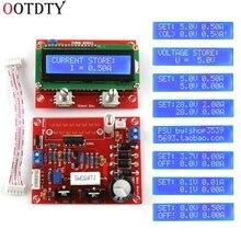 0 28V 0,01 2A Einstellbare DC Geregelte Netzteil DIY Kit LCD Display Geregelte KitShort schaltung/Strom grenze Schutz
