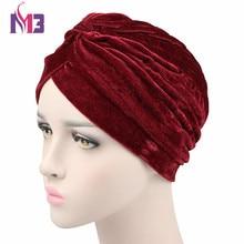 12PCS/lot Fashion Women Neon Velvet Turban Casual Headwear Turbante Headband Hat Ladies Hijab Turban new fashion women knit turban plush wool lining turban ladies stretchy turban headband hijab turbante hat headwrap