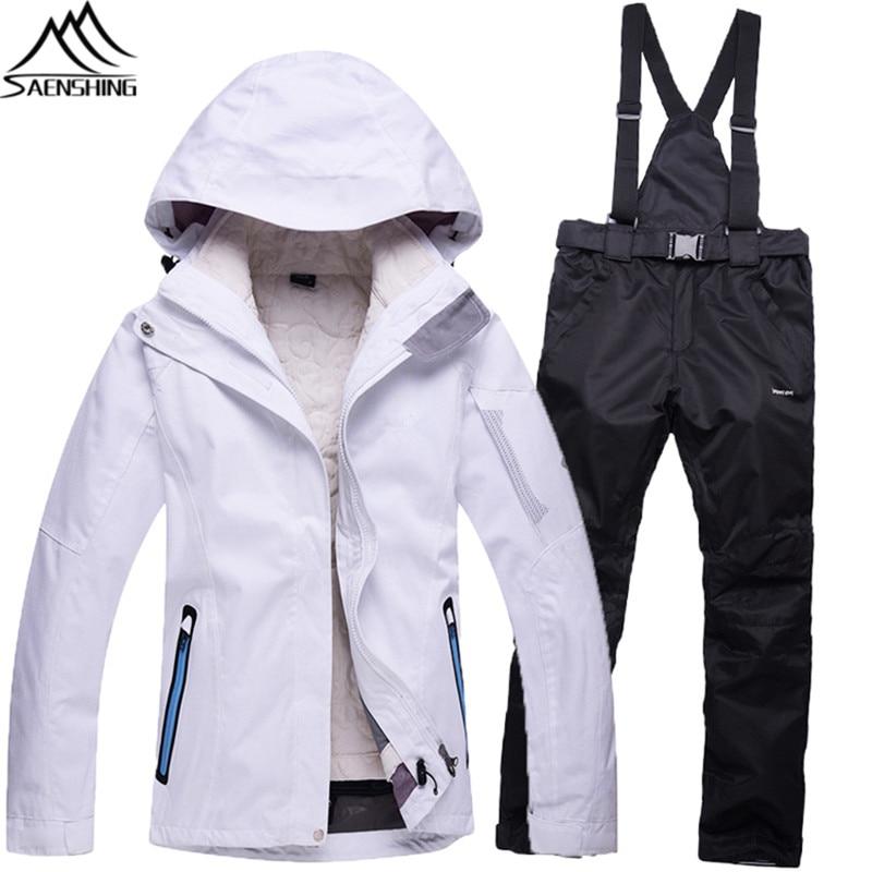 Белый женский лыжный костюм доставка