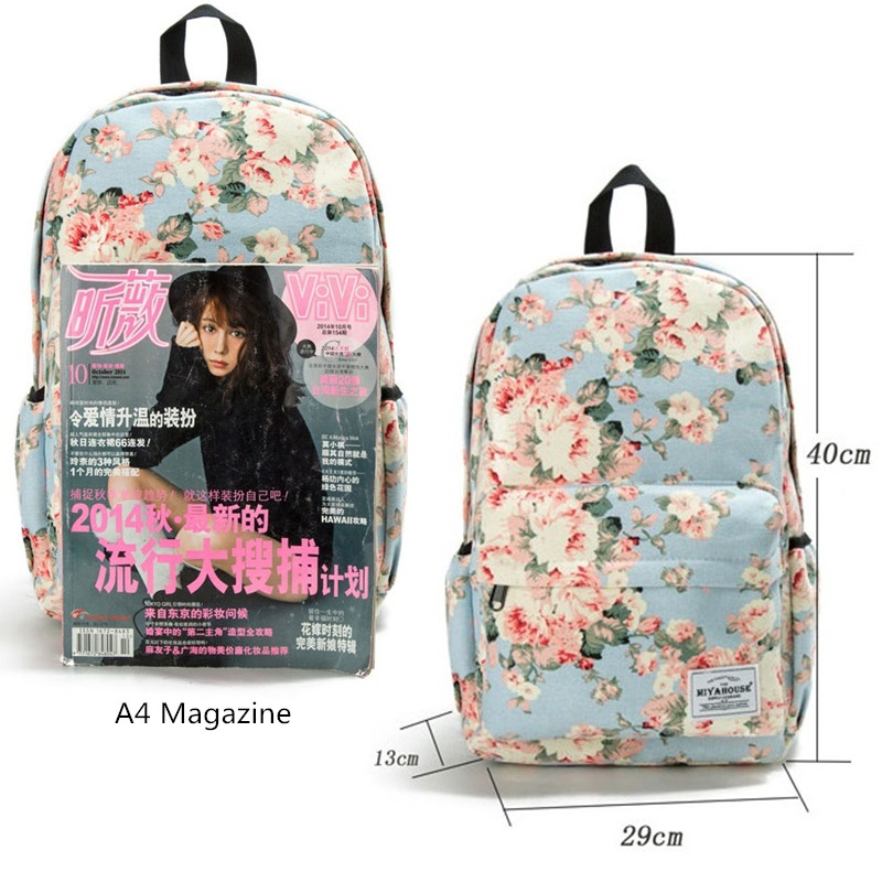 Image 2 - Miyahouse Classic Floral Printed Travel Backpack For Women Canvas