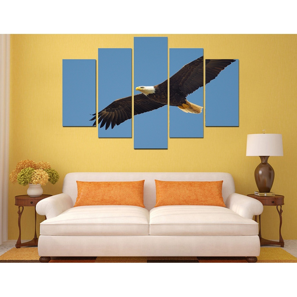2017 picture print painting The blue sky eagle canvas wall art 5 ...