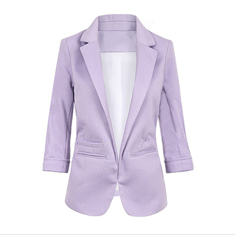 Open Front Notched Blazer 19 autumn Women Formal Jackets Office Work Slim Fit Blazer white Ladies suits 11 colors size S-XXL 13