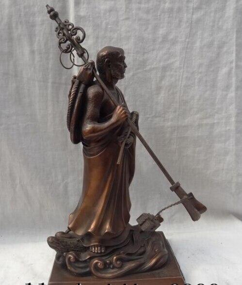"""dr608 14"""" Chinese Pure Bronze Damoh Buddha Chan Zhang Tibet Dharma Budhidharma Statue statue tibet statues buddha statue bronze - title="""