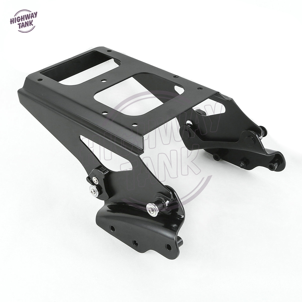 Black Motorcycle 4 Point Docking Kit Luggage Rack Case for Harley Road Glide Street Glide FLHR FLHRC FLHT  FLHX FLTR 2009-2013 motorcycle chrome luggage rack for harley touring road king street glide cvo road glide street electra glide flhr 2009 2017 16