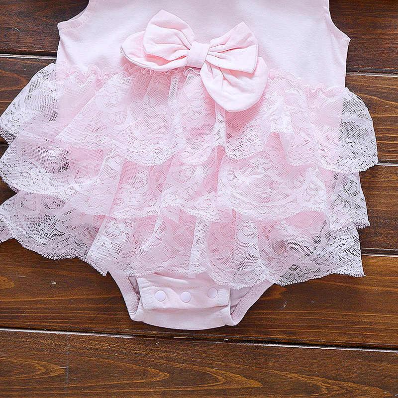 Baby sommer body infant mädchen prinzessin kleid baby taufe taufe kleid party hochzeit 0-3 3-6 6-9 monate body