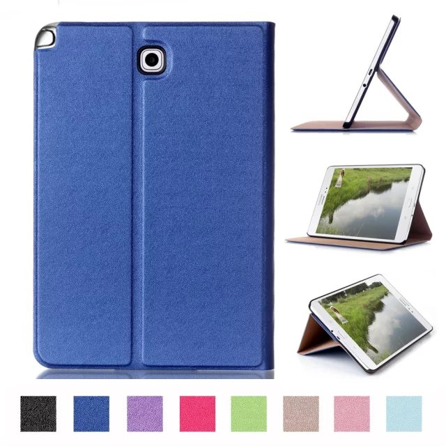 2016 New PU Leather Smart Cover for Samsung Galaxy Tab A 8.0 T350 Case SM-T355 Foldable Stand Cover For Galaxy Tablet luxury tablet case cover for samsung galaxy tab a 8 0 t350 t355 sm t355 pu leather flip case wallet card stand cover with holder