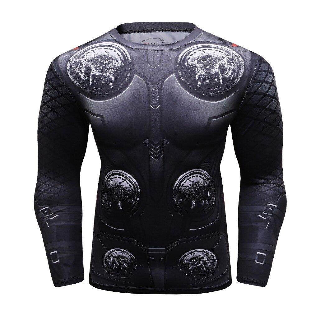 c5afa54551 Marvel Avengers THOR 3 3D Impresso T camisas De Compressão dos homens camisa  2018 Cosplay Manga
