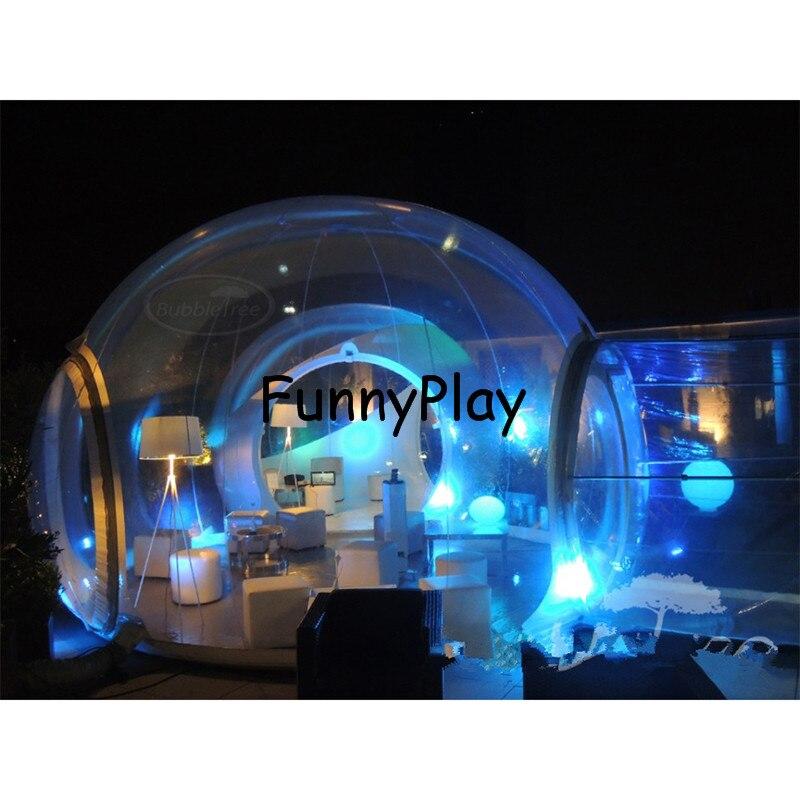 Vida ao ar livre tendas, tendas inflável casa de show da família Quintal Transparente inflável, barracas de praia, tenda bolha clara