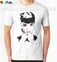 Teeplaza Base Shirt Graphic Men Audrey Hepburn O Neck Short Sleeve T Shirts