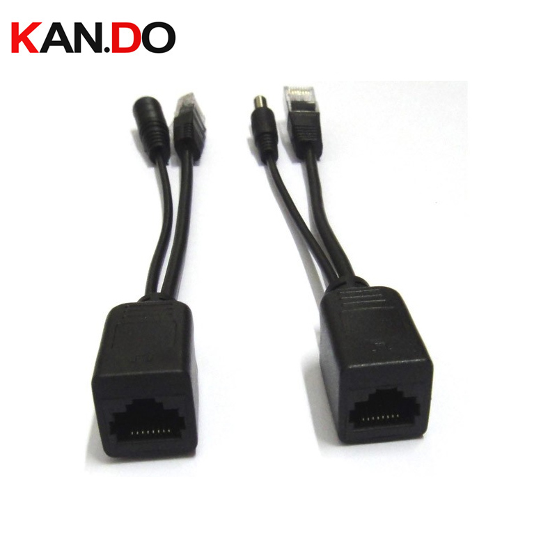 Passive 100Mbps Power Over Ethernet POE Adapter Cable RJ45 Poe Splitter Injector Connector Kit TRANSMISSION POE POWER