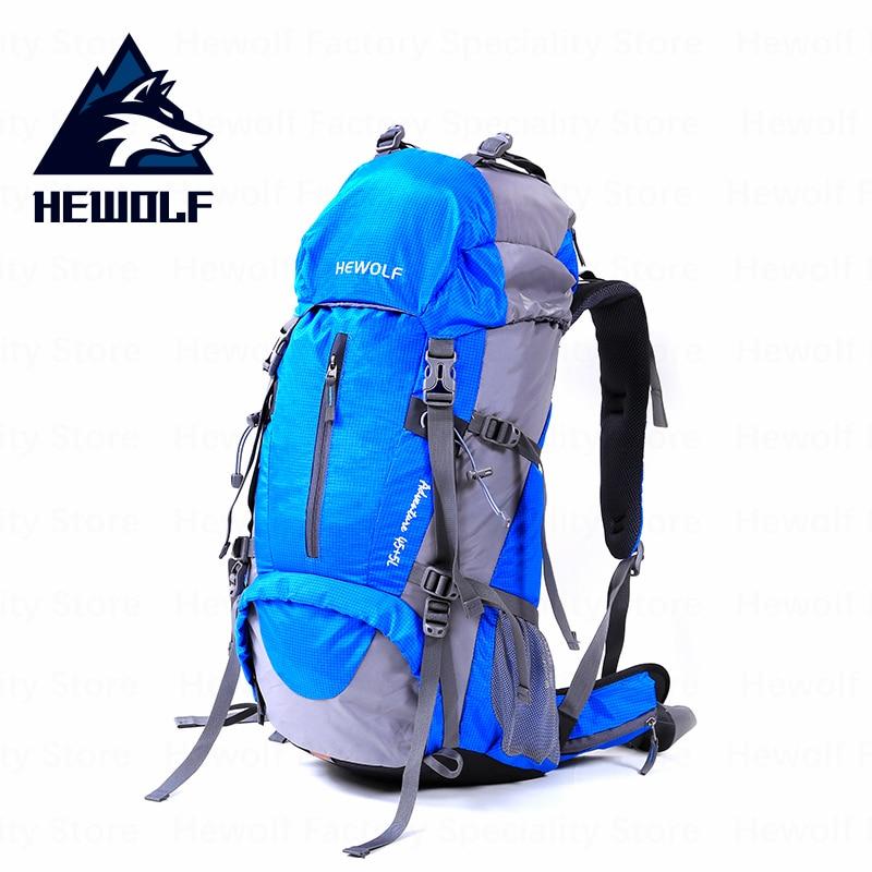 Hewolf sac d'escalade extérieur 50L sac de Sport de grande capacité sac d'escalade léger professionnel imperméable respirant confortable