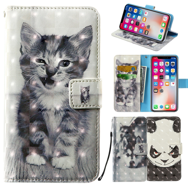 3D Flip Wallet Leather Case For Highscreen Omega Prime S Spade Spider Thor WinJoy WinWin Zera F S Rev.S Power Spark Phone Cases