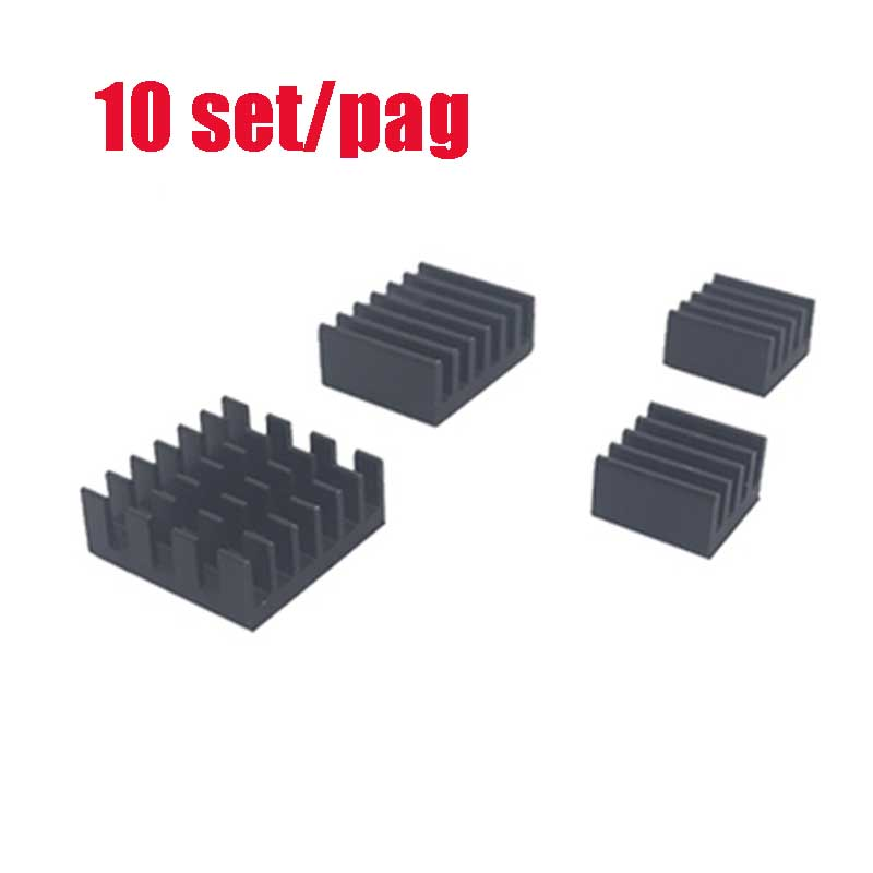 10 Set/pag For Raspberry Pi 4B Aluminum Heatsink Radiator Cooler Kit For Raspberry Pi 4