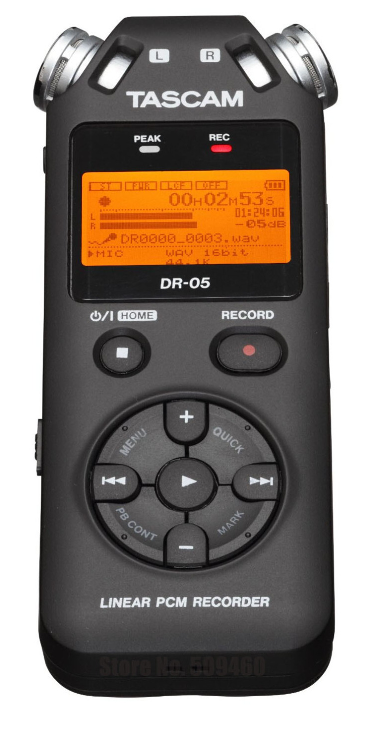 Tascam dr-05 pen interview machine digital professional voice music meeting mp3 recorder SLR micro audio sound recording