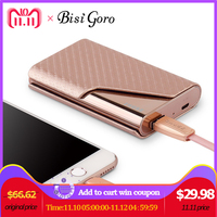 Bisi Goro 2018 Business Credit Card Name ID Card Holder Smart Wallet With USB for Charging Wallet Capacity 4000 mAh For Travel