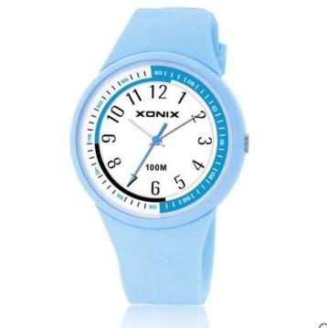 Relógios de Quartzo Relógios à Prova Meninos Meninas Sports Água 100m Natação Mergulho Soprts Geléia Crianças Relógios Presente d'