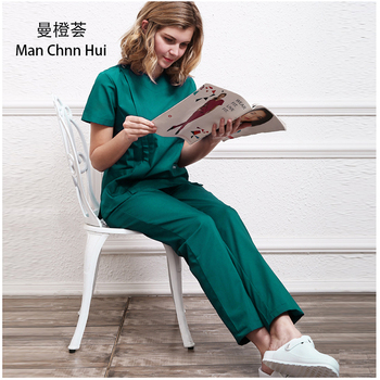 Professional surgical gown medical high quality scrub set dental clinic overalls beauty salon overalls Laboratory scrubbing kit
