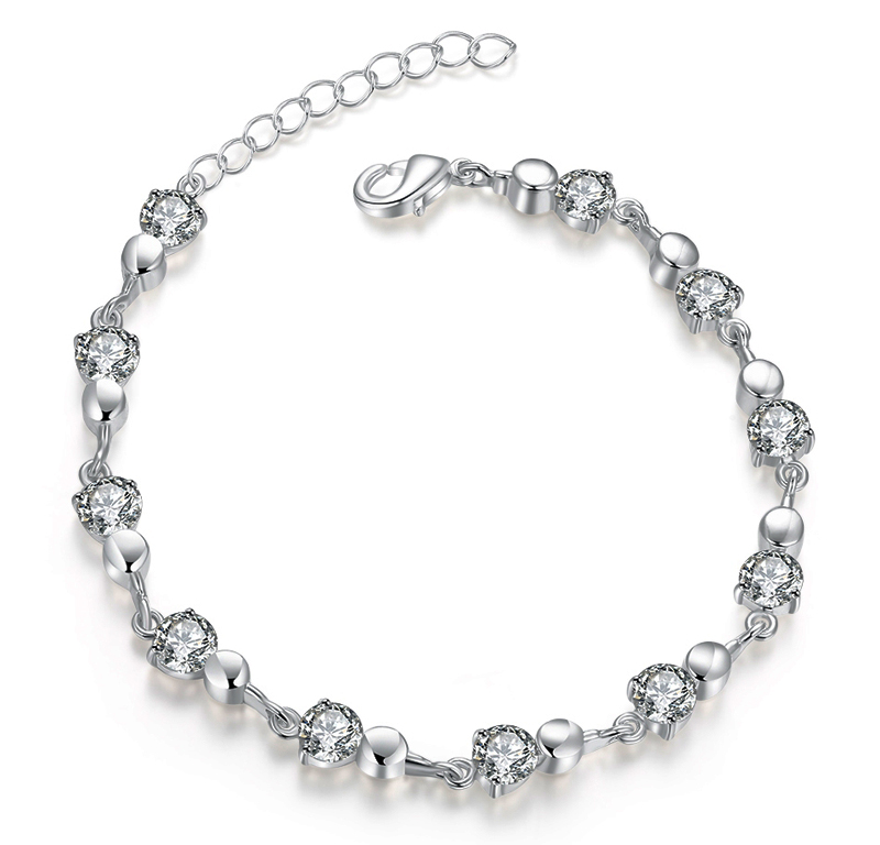 New Hot Sell Silver Plated Austrian Crystal Brand jewelry Multi font b Chain b font Rhinestone