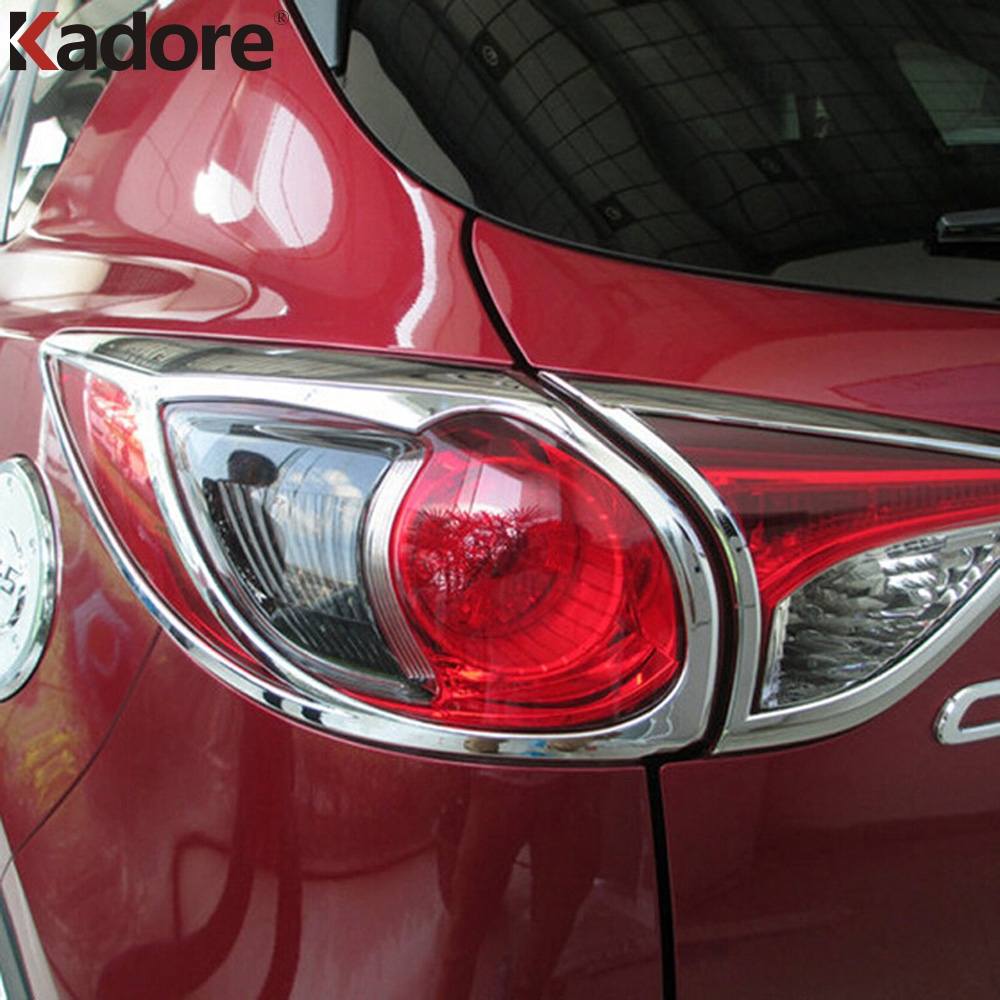 For Mazda CX 5 CX5 SUV Hatchback 2012 2013 2014 2015 ABS Chrome Rear Tail Light