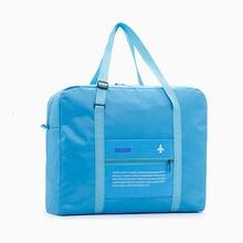69c0eed12 جديد النساء السفر أكياس النايلون للماء للطي حقيبة قدرة كبيرة الأمتعة حقيبة  سفر حقائب أسعار الجملة