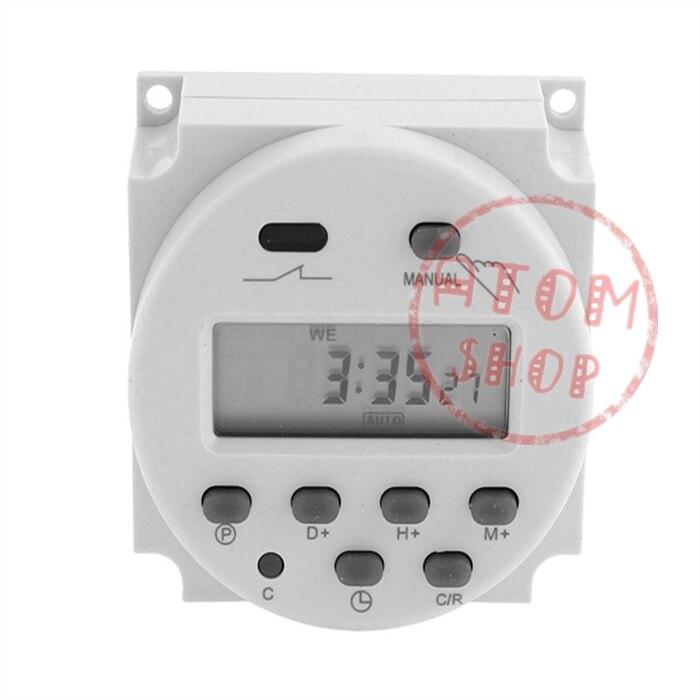 CN101A AC110V 16A Numérique LCD Puissance Hebdomadaire Programmable Électronique Minuterie Interrupteur