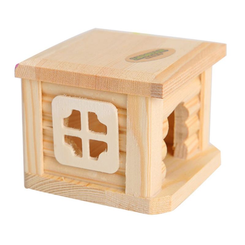 Mini Small Pet Wooden House CageWinter Windproof and Warm Nest Cave for Mouse Hamster Squirrel Baby Case Animals Accessories9