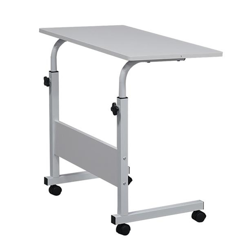 Removable E1 15MM Chipboard & Steel Side Table With Baffle White L Cumputer Desk Student Desk For Reading Hight Adjustable
