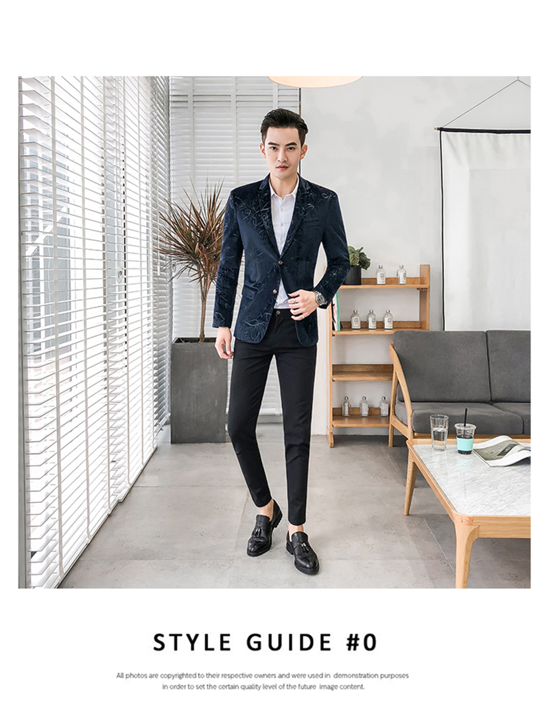Blazer Masculino Slim Fit Casual Blazers Men Suits Wedding Blazer For Men (4)