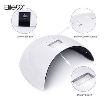Elite99 24W Nagel Trockner UV LED Nagel Lampe Gel Curing Lampe mit Boden 30 s/60 s timer Display Lampe Für Nagel Trockner