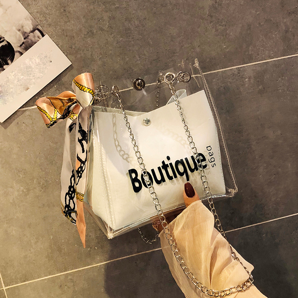 Bag Womens Fashion Transparent Shoulder Messenger Beach Casual Shopping Woman Bag Sac Main Femme Schoudertas Dames Bolso Mujer