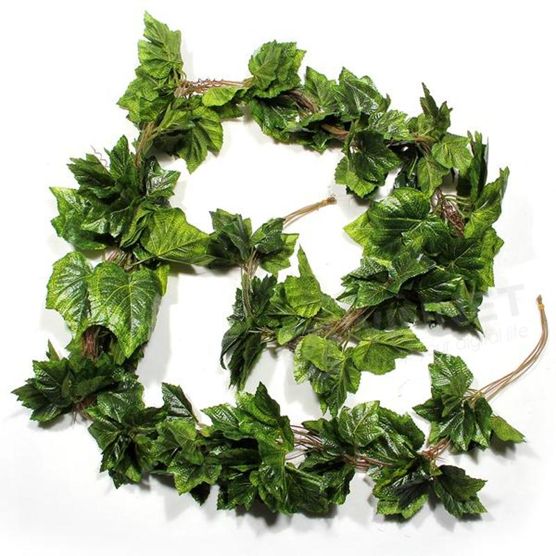 Online buy wholesale grape leaves from china grape leaves for Artificial grape vines decoration