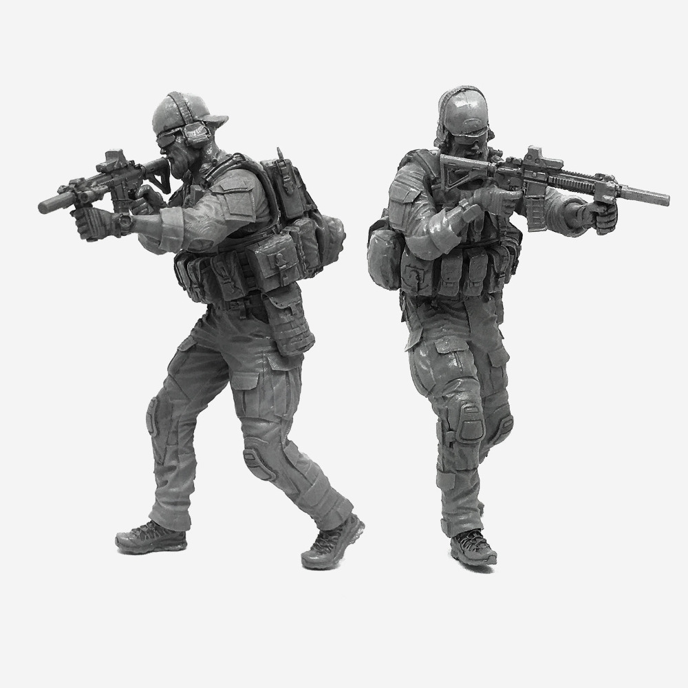 1/35 Modern U.S Army Elite Special Force C Military Soldier Resin Model Figure Kit Gifts For Boys A18-06