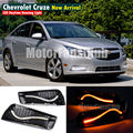 LED DRL Daytime Running Light For Chevy Cruze DRL Carbon Fiber Pattern 09-15 Signal Free Shipping