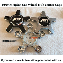 20pcs set of 135mm 5clips 60mm 56mm ABT Logo Auto emblem badge Car Wheel hub center