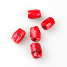 2016 New Fashion Natural Red Coral Cylindrical Beads 18*23MM 3 Pieces/lotFor DIY Jewelry Making Free Shipping
